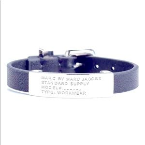 Marc by MARC JACOBS - Silver leather ID bracelet